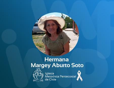HermanaMargey Aburto Soto, a la Presencia del Señor