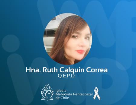 Hna Ruth Calquín Correa, a la presencia del Señor