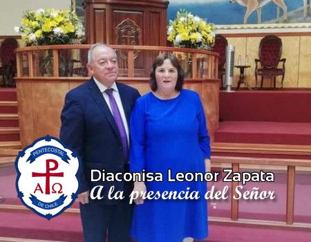 Diaconisa Leonor Zapata Leal, a la presencia del Señor